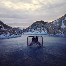 mountaintop pond hockey xpost from r pics hockey