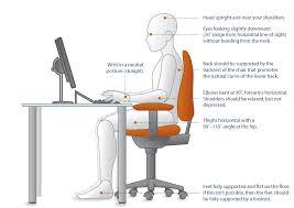 Computer Desk Posture Office Ergonomics Office Desk Correct Sitting Desk Posture