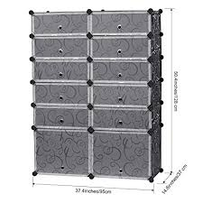 Amazon Com Langria Living Storage by Amazon Com 12 Cube Diy Shoe Rack Modular Organizer Plastic