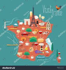 Wine Map Of France by Map France Vector Illustration Design Icons Stock Vector 450243538