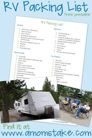 rv roadtrip checklist what to pack for your rv trip a mom u0027s take