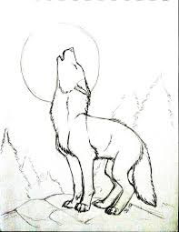 coyote howling at the moon clipart 20