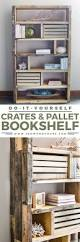 Woodworking Bookcase Plans Free by Diy Rustic Pallet Bookshelf