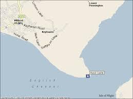 hurst map hurst spit castle artillery fort and lighthouse keyhaven milford