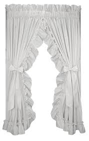 stephanie solid color country ruffled shaped valance window