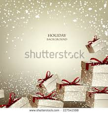 boxes with bows christmas background gifts boxes bows stock vector 227541598
