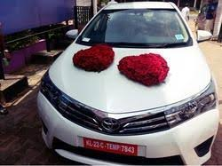 wedding car decorations wedding car decoration in thiruvananthapuram