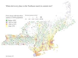 New England On The Map Sapping Attention Population Density 2 Old And New New England