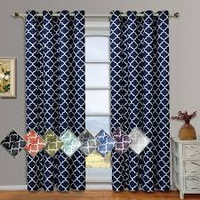 Curtains Set Meridian Thermal Grommet Room Darkening Curtains