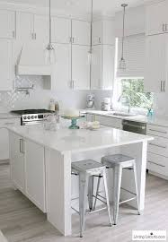 modern farmhouse kitchen cabinets white white kitchen reveal modern farmhouse before and after photos