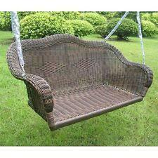 Rattan Swing Bench Wicker Swing Ebay