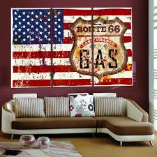 American Flag Home Decor 3 Piece Club Bar Modern American Flag Wall Painting Home Hallway
