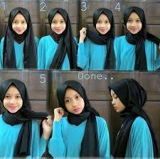 tutorial hijab pashmina kaos yang simple tutorial hijab pashmina kaos yang trendy modelmuslim