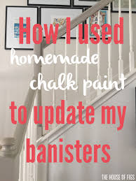 Sanding Banister How I Used Chalk Paint To Update My Bannister