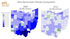 Primary Map Clinton V Clinton An Updated Comparison Of The 2008 And 2016