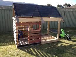 Outdoor Furniture Bunnings My Husband Built This Amazing Cubby And Sandpit From Pallets Plus