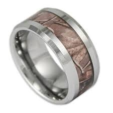camouflage wedding rings 10mm wide men s tree camo tungsten ring camouflage wedding band by