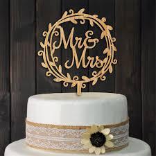 wedding cake decorating supplies wreath mr mrs wedding cake topper wood cake topper stand wedding