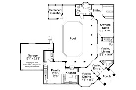pool house plans with bathroom house southwest house plans with courtyard