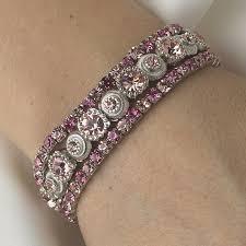 silver rhinestone bracelet images Silver pink multi stretch rhinestone bracelet b 963