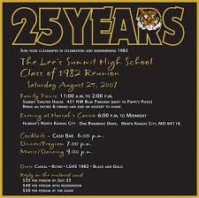 high school reunion invitations s summit mo high school class of 1982 reunion reunion