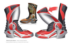 red motorbike boots motorcycle boots on wacom gallery