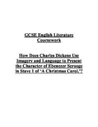 english lit charles dickens imagery language