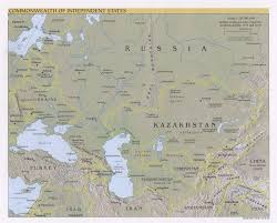 Russia Map Image Large Russia by Russia And The Former Soviet Republics Maps Map Collection Ut