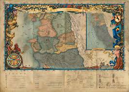 Map Of The World With Continents by Continent Witcher Wiki Fandom Powered By Wikia