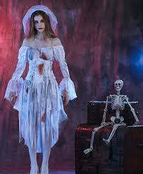 Corpse Bride Halloween Costume Dangerous Corpse Bride Ghost Cosplay Costume Dress