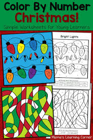 Kindergarten Math Christmas Worksheets Best 25 Color By Numbers Ideas Only On Pinterest Addition