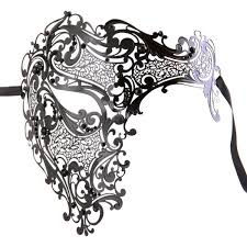 masquarade mask black signature phantom of the opera half men s masquerade mask