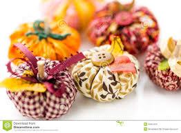 fabric pumpkins stock photo image 45655430