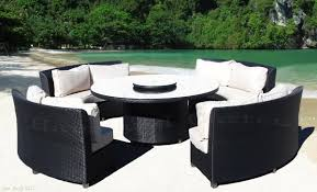 Inexpensive Wicker Patio Furniture - cassandra round outdoor wicker dining sofa set patio furniture