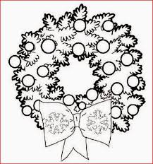 holiday christmas wreaths coloring pages