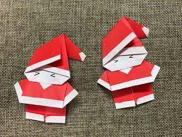 How To Make A Origami Santa - the idea king diy origami santa claus tutorial it s