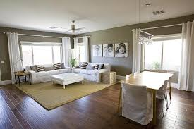 Living Room Dining Room Combination Taupe Wall Paint Transitional Dining Room Benjamin Moore