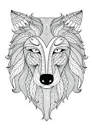 lion face coloring sheet free page incredible wolf head