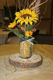 table centerpieces with sunflowers fall table centerpieces table centerpiece pinteres