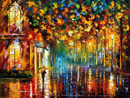 late stroll miami u2014 palette knife oil painting on canvas by