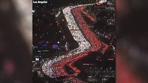 hellish los angeles thanksgiving traffic jam will make you glad you