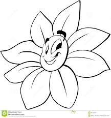 smiling flower cartoon vector clipart stock vector image 41776327