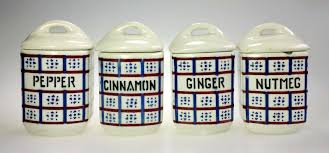 kitchen kitchen spice jars canister ceramic czechoslovakia czech