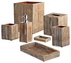 Contemporary Bathroom Accessories Sets - bali bath accessories 7 piece set contemporary bathroom