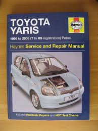 toyota yaris haynes workshop repair service manual 99 05 in