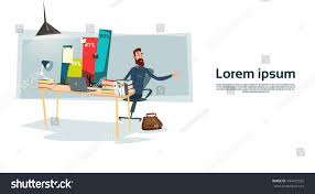 Office Chair Side View Vector Back View Of A Man Sitting In An Office Chair Illustrators And
