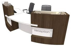 Two Person Reception Desk Two Person Curved Reception Desk Evo Xpression Office Reality