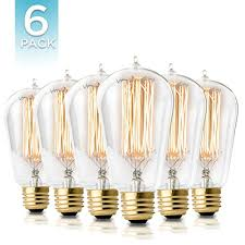 Edison Light Bulbs 6 Pack Hudson Lighting Edison Bulb St58 230 Lumens 60w