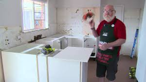 how to install kitchen base cabinets how to install a kitchen end panel diy at bunnings youtube