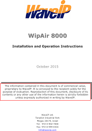 wa8k25x wipair 8000 user manual 20151111135613 waveip ltd